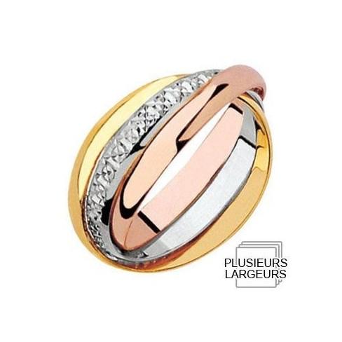 Alliance de mariage entrelacée 3 Ors - 04020127T