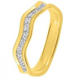 Alliance de mariage Or jaune et diamants - 11770684H - Boutique Alliance