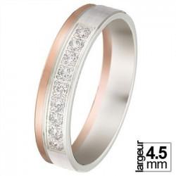 Alliance diamant, or blanc et or jaune 07770804B - Boutique Alliance