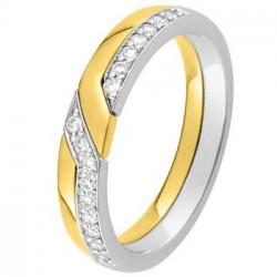 Alliance diamant, Or blanc et Or jaune 11770651b - Boutique Alliance