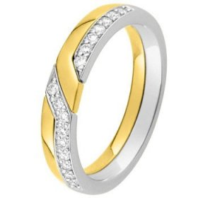 Alliance Diamant - Alliance de mariage 2 Ors...