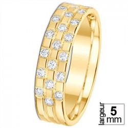 Alliance diamant et or jaune 07770799j - Boutique Alliance