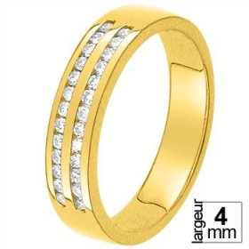 Alliance Or jaune Diamant - Alliance de mariage Or...