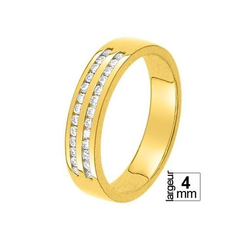 Alliance diamant et or jaune 11770669J - Boutique Alliance