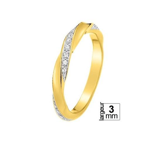 Alliance diamant et Or jaune 11770676h - Boutique Alliance