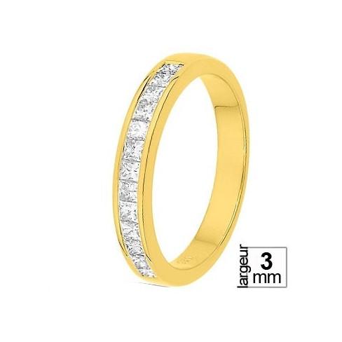 Alliance diamant et or jaune 11770743J - Boutique Alliance
