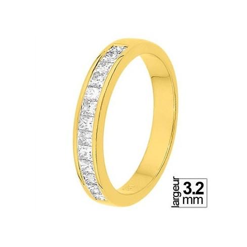 Alliance diamant et or jaune 11770745J - Boutique Alliance
