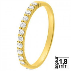 Alliance diamant et or jaune 11770920J - Boutique Alliance