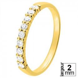 Alliance diamant et or jaune 11770921J - Boutique Alliance