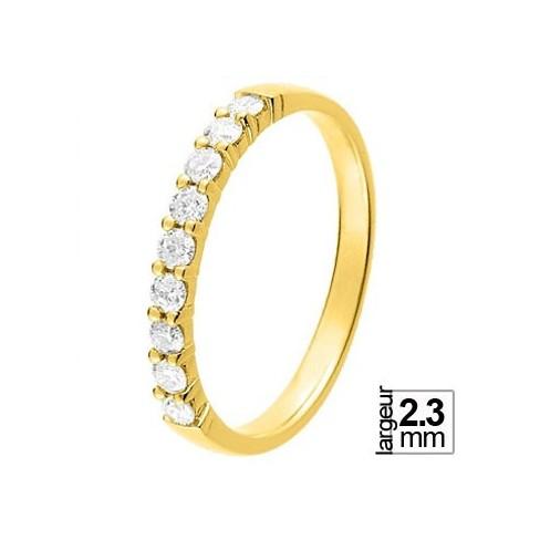 Alliance diamant et or jaune 11770922J - Boutique Alliance