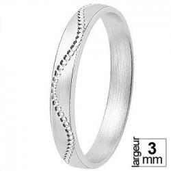 Alliance de mariage Or blanc 750 - 11035014G - Boutique Alliance