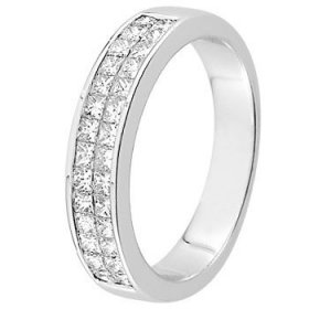 Alliance Diamant baguette - Alliance de mariage Or...