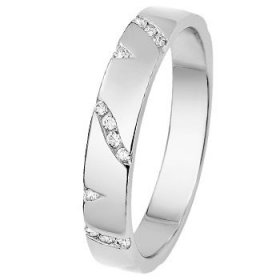 Alliance femme Or blanc - Alliance de mariage Or...