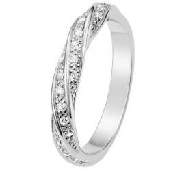 Alliance de Mariage Or blanc et Diamants 11770902G - Boutique Alliance
