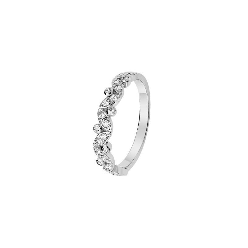 Alliance De Mariage En Or Blanc Et Diamant 11770675g