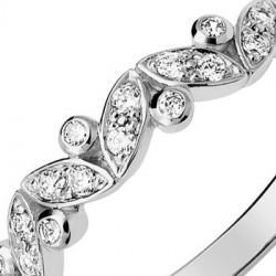Alliance de mariage en Or blanc et diamant - 11770675G - Boutique Alliance
