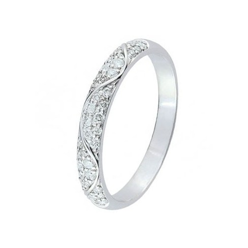 Alliance diamants réalisée en Or blanc 750 - Boutique Alliance