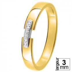 Alliance diamants, Or jaune et Or blanc - 11770649B - Boutique Alliance