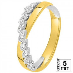 Alliance diamants Or jaune et Or blanc - 11770647B - Boutique Alliance