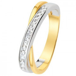 Alliance diamants, Or jaune et Or blanc - 11770656B - Boutique Alliance