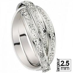 Alliance de mariage entrelacée Or blanc - 07030209