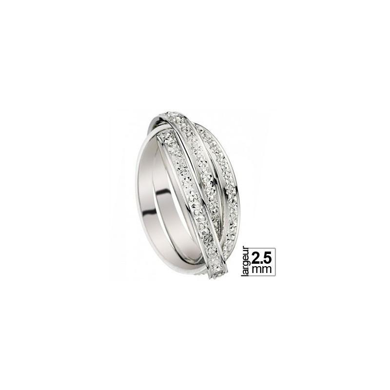 revendeur a55ba e1620 Alliance de mariage entrelacée Or blanc
