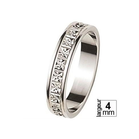 Alliance de mariage Or blanc - 07030244