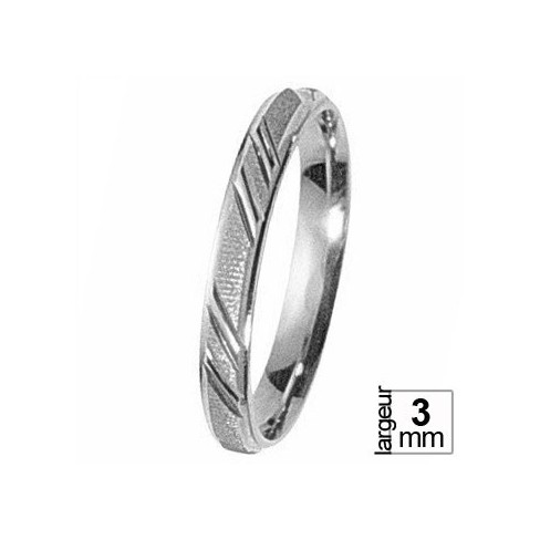 Alliance de mariage Or blanc - 07030285