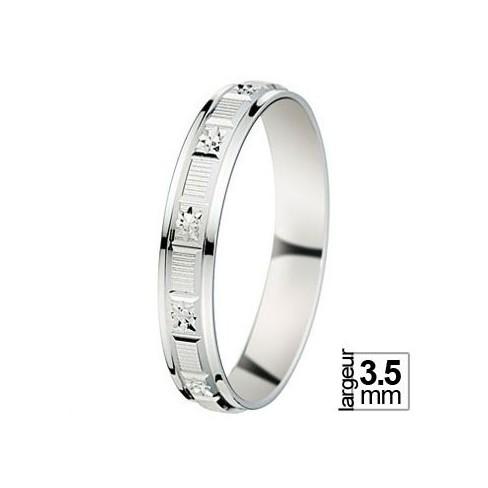 Alliance de mariage Or blanc - 07030586