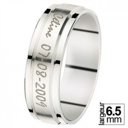 Alliance de mariage Or blanc - 07030453