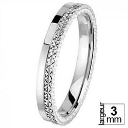 Alliance de mariage Or blanc - 04036113G - Boutique Alliance