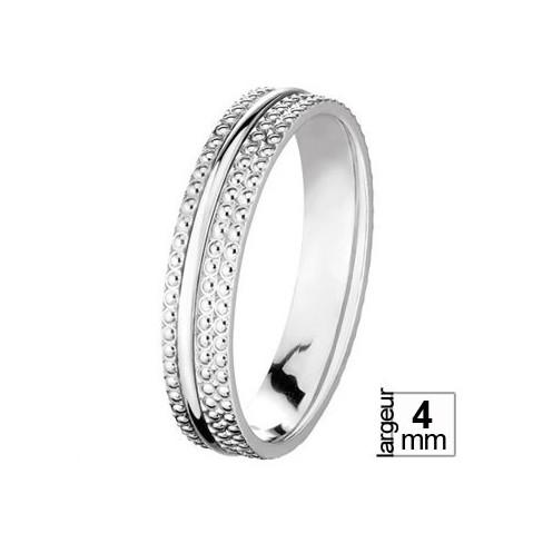 Alliance de mariage Or blanc - 04036112