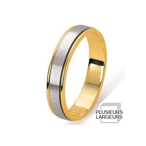Alliance Or jaune et Platine satiné - 04030519K - Boutique Alliance