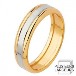alliance de mariage or jaune 750 platine alliance or jaune alliance de ...