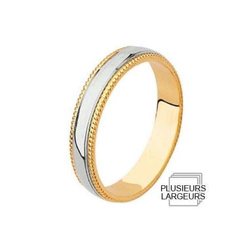 Alliance Or jaune avec anneau Platine - 04031105K - Boutique Alliance