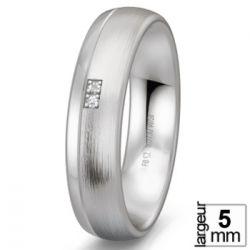 Alliance de mariage Argent Diamant