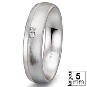 Alliance homme Diamant - Alliance de mariage Argent Diamant
