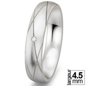 Alliance femme pas cher - Alliance de mariage Argent Diamant