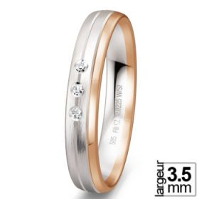 Alliances Breuning - Alliance de mariage 2 Ors 585 Diamant