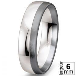 Alliance de mariage Or blanc 585