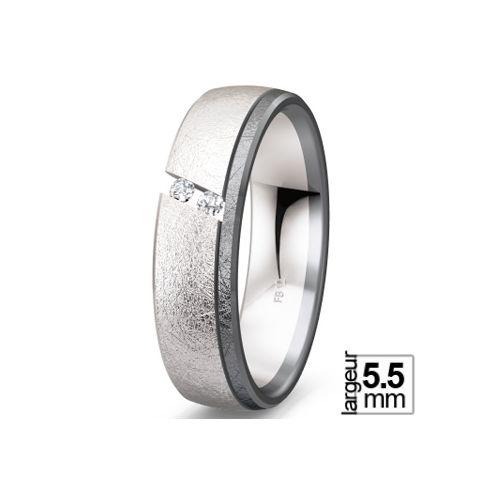 Alliance de mariage Or blanc 585 Diamant