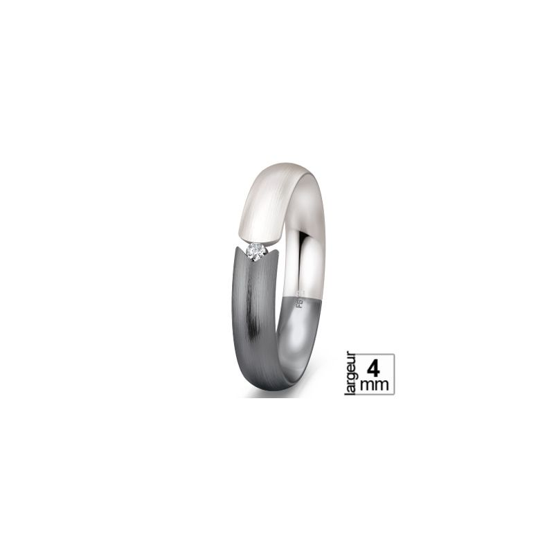 Alliance de mariage Or blanc 585 Diamant