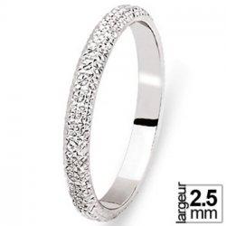 Alliance de mariage en Platine diamanté