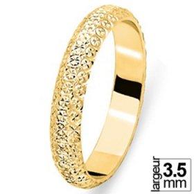 Les diamantées - Alliance de mariage Or jaune