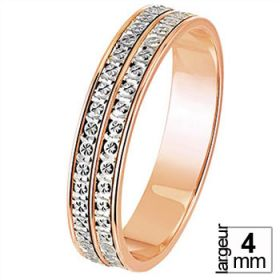 Les diamantées - Alliance de mariage 2 Ors 750