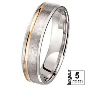 Alliance homme Or - Alliance de mariage 2 Ors 750