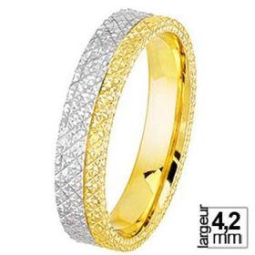 Alliance femme Or jaune - Alliance de mariage 2 Ors 750
