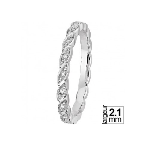 Alliance de mariage Or blanc Diamant