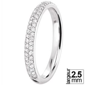 Alliance femme - Alliance Diamant Or blanc