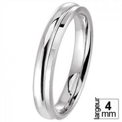 Alliance de mariage Or blanc 4 mm